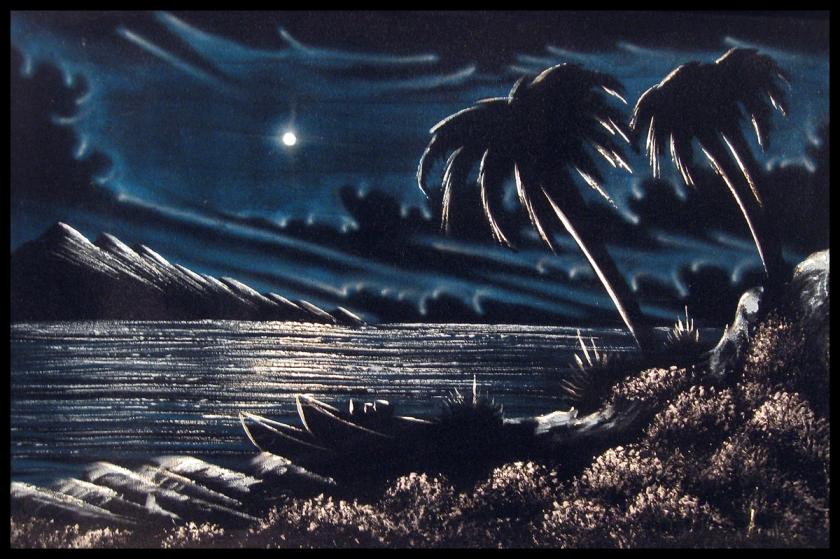 velvet painting-painting from grandma j's