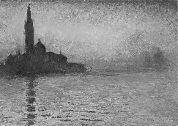 Claude_Monet,_San Giorgio Maggiore at Dusk 1908 bw