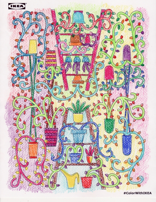 ikea colouring page - garden by sld