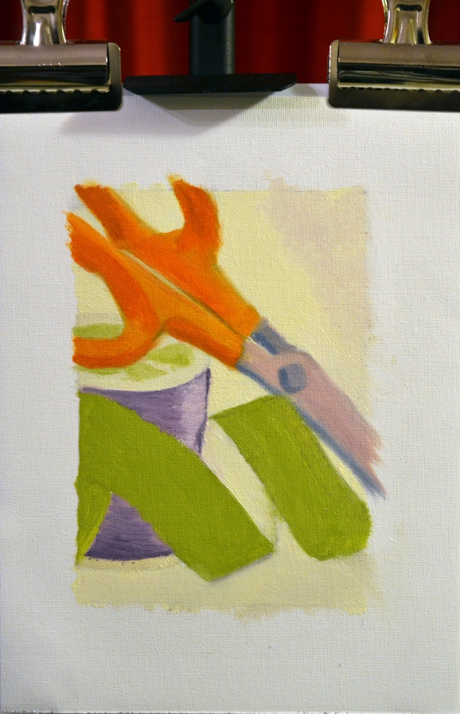 secondary colours still life - in progress by sld 041416