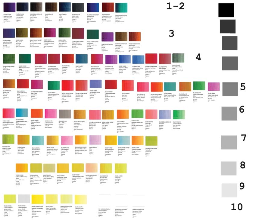 Duo Aqua Colors - colors in value order 1200