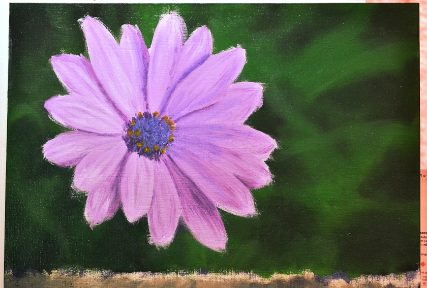 Daisy painting by sld 1200